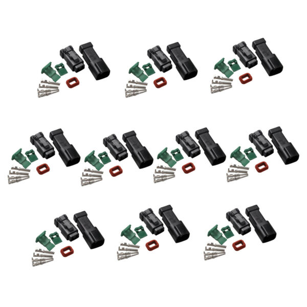 10 Set Deutsch DT 2-Pin Connectors Kits 18-16 GA Contact Adapters Male