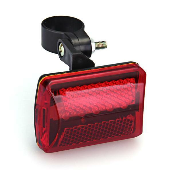 Red Bicycle Bike Rear Tail Light 5 LED Safety Flashing Mount AA Battery Powered $6.45
