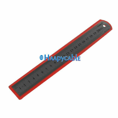 New Stainless Steel Metal Pocket Measuring Ruler Double Sided SAE 20cm