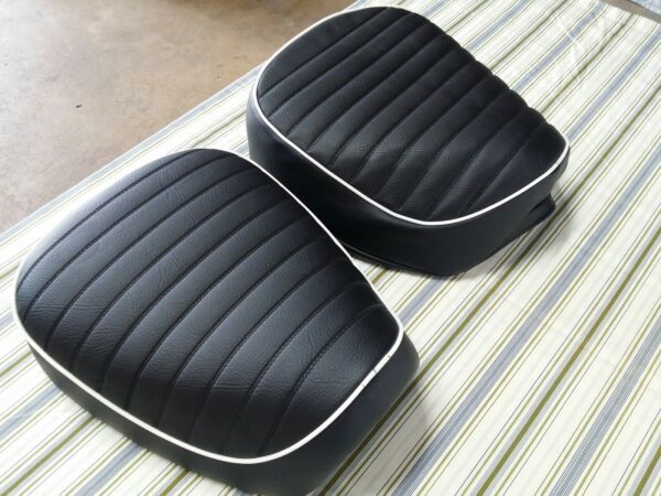 HONDA CT90 TRAIL90 SEAT COVER 1972 TO 1979 MODEL SEAT COVER white piping H58 $33.99