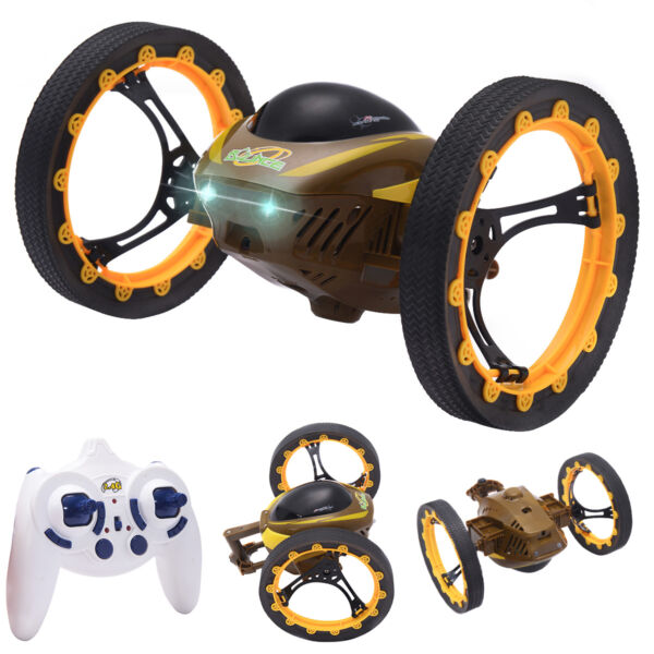 2.4GHz 4CH RC Bounce Car Remote Control Jumping Stunter 360° Spin Christmas Gift