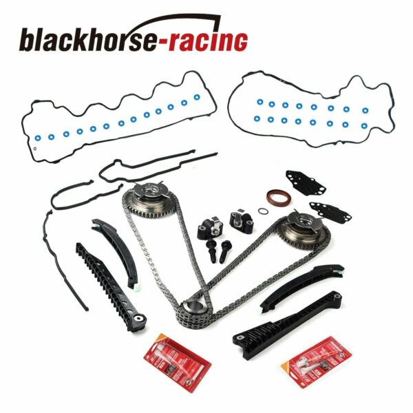 Timing Chain Kit+Cam Phasers+Cover Gasket 04-08 For Ford F150 Li