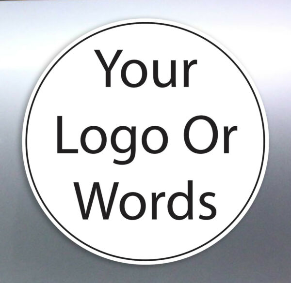 Band or gig bumper car stickers Size round circle logo work sign custom made
