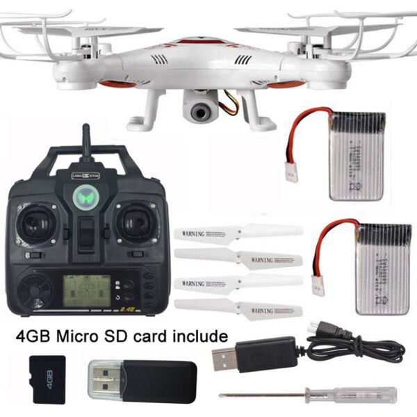 2.4G Mini RC Quadcopter Drone 4CH 6-Axis Gyro Remote Control Helicopter w HD Cam