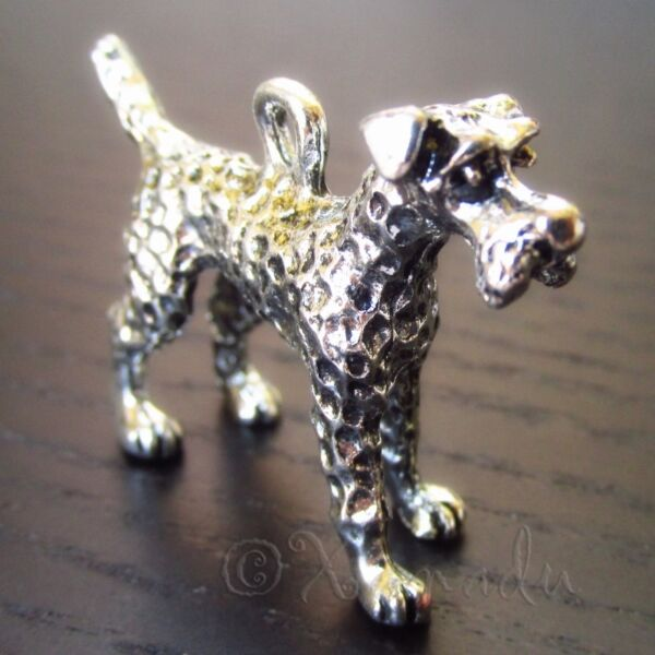 Terrier Dog Charms Wholesale Silver Plated 3D Pendants C4304 1 2 Or 5PCs $2.00