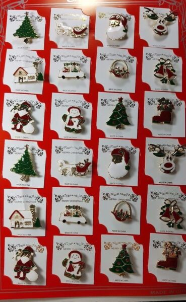 wholesale Lot of 24 pcs pretty Vintage Broochespin for Christmas .