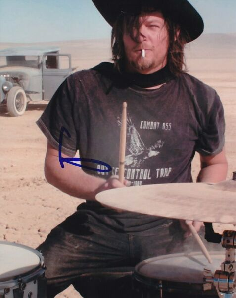 NORMAN REEDUS Signed Autographed DRUMS Photo
