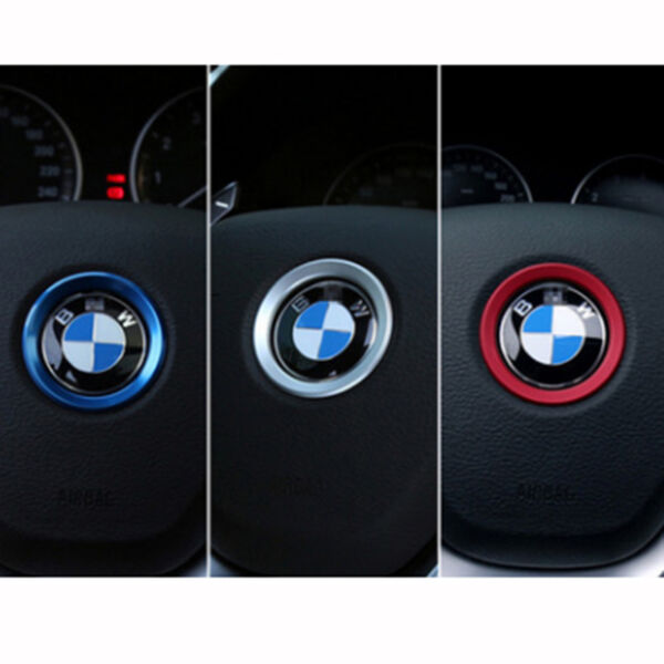 For BMW 1 3 5 Series X3 X6 Steering Wheel Center Ring Cover Decoration Trim Red