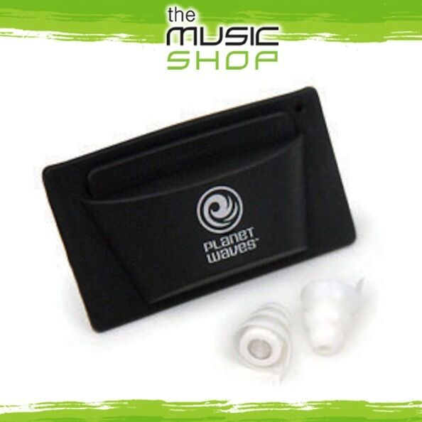 New Pair D'Addario Planet Waves Pacato Full Frequency Earplugs - Reusable PWPEP1