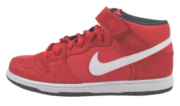 Nike DUNK MID PRO SB Hyper Red White Anthracite Discounted (233) Men's Shoes