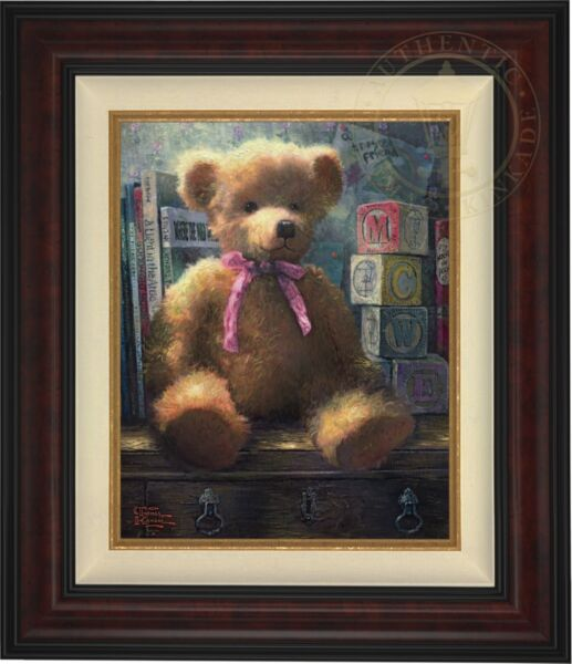 Thomas Kinkade Trusted Friend Rose Bud  20 x 16  LE Canvas EP # 16 Burl Frame