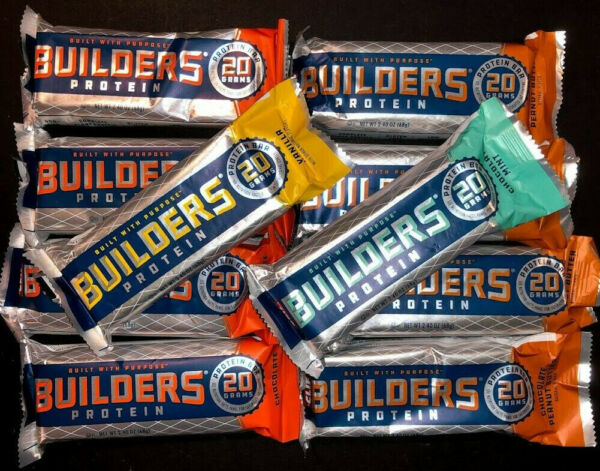 52 Assorted Flavors - CLIF BUILDER's - 20g PROTEIN BARS - 2.4oz