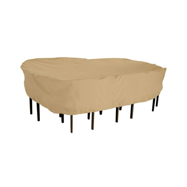 Terrazzo patio Rectangular Oval table and 6 chairs cover up to 106quot;L 82quot;W 23quot;H $59.95