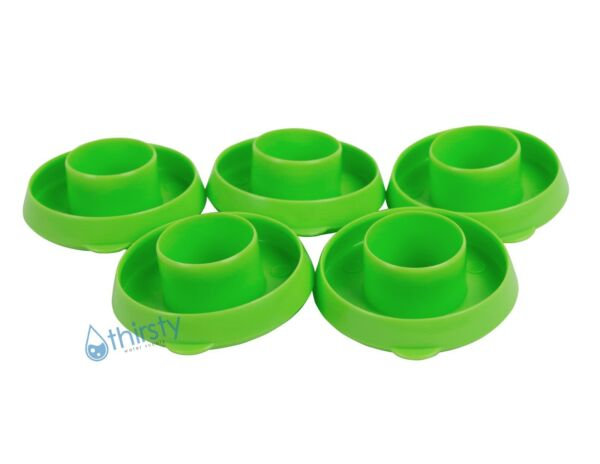 Lot of 5 Water Bottle Snap On Caps 55mm Lids Dew Caps Tops Jug LIME GREEN New $7.49