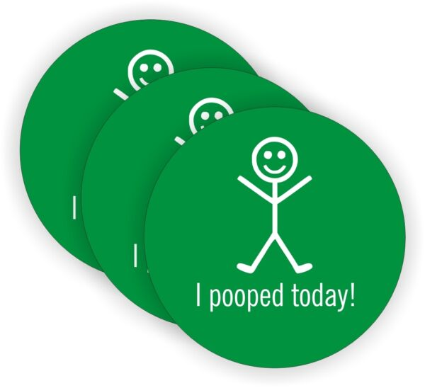 (3) I Pooped Today Hard Hat Stickers   Safety Foreman Helmet Decals Funny Labels
