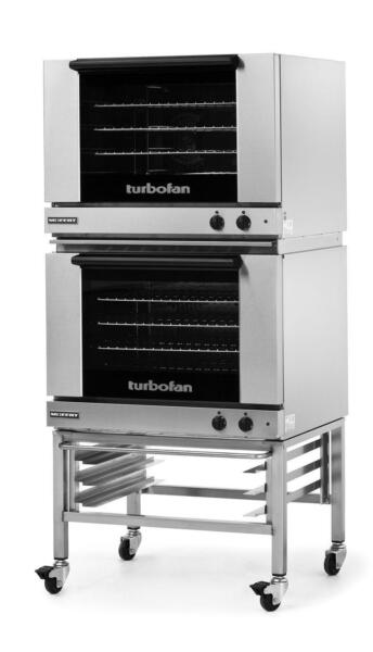 Moffat E28M4 2C Dbl Electric Convection Oven Full Size 4 Pan w Mobile Stand