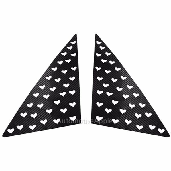 A Quarter Glass 3D Heart Decal Carbon Sticker For Kia Ray $24.69