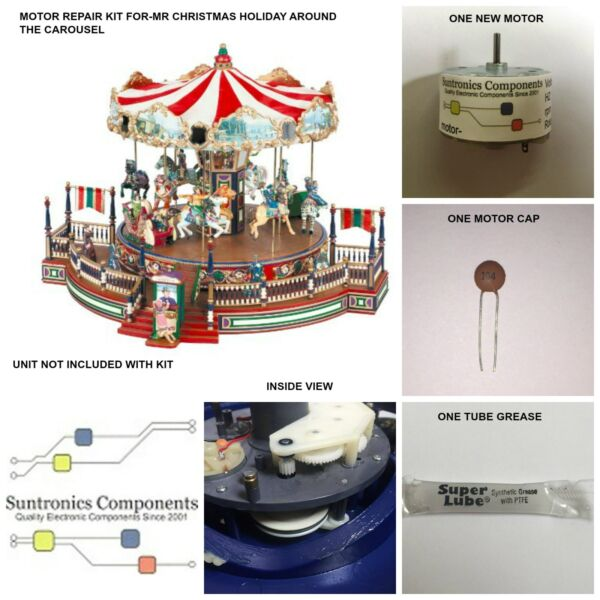Mr Christmas Holiday Around The Carousel REPLACEMENT PART MOTOR KIT