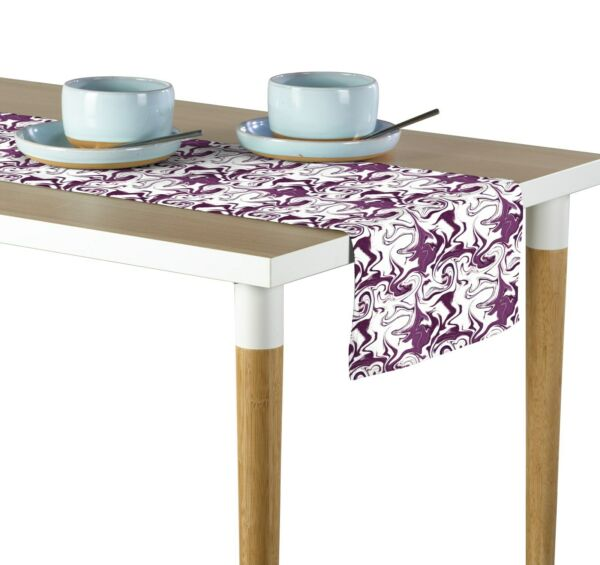 Purple Marble Table Runners Assorted Sizes