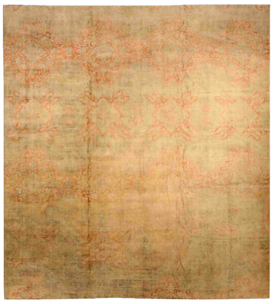 Antique Indian Cotton Agra Carpet BB3066