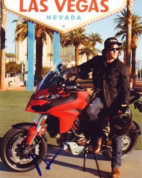 NORMAN REEDUS Signed Autographed LAS VEGAS MOTORCYCLE Photo
