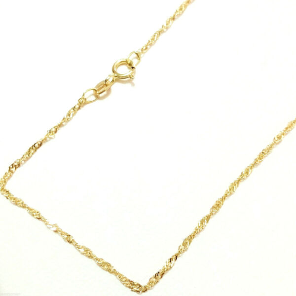 Catenina Oro Giallo 18kt 750 Maglia Singapore 0.90 Gr - 45 cm18k Gold Necklace