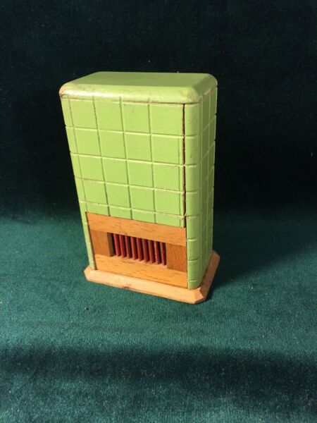 Dollhouse Miniature Wood Heater Stove Fireplace Antique Furniture Germany