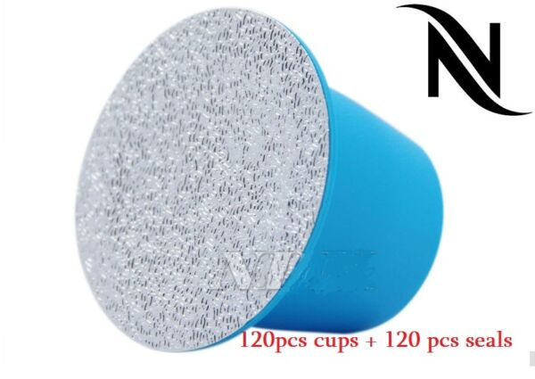 120pcs Nespresso Refillable Capsules + seal pods stickers ship to us