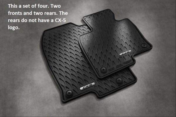 2017 2018 2019 2020 Mazda CX-5 All Weather Floor Mats (set of 4) 00008BR21