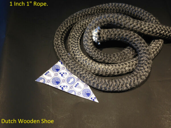1 inch 1quot; Black Gasket rope 10 Feet Outdoor Stove Pellet wood Stove Furnace . $29.95