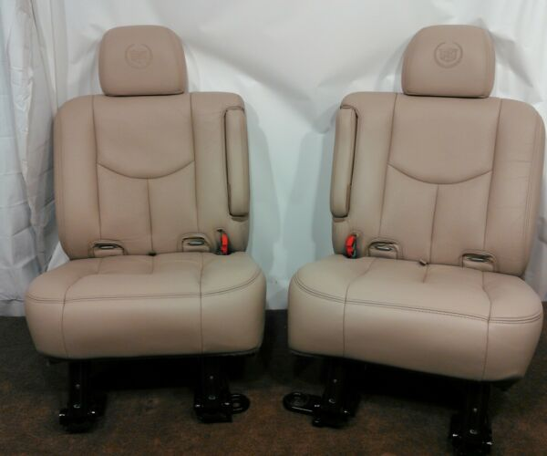 Escalade Tahoe OEM HEATED REAR LEATHER BUCKET SEATS 2002 2003 2004 2005 2006