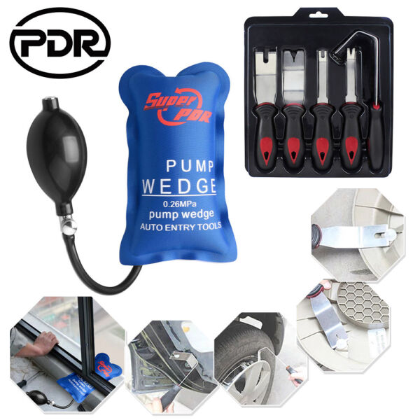 Pry Tool Set +Pump Wedge Car Panel Removal Door Modification Trim Upholstery 6pc