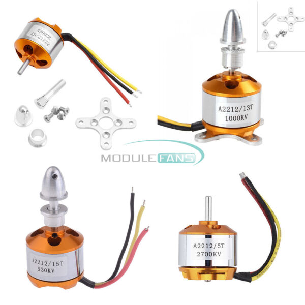 A2212 930/1000/1400/2200/2700KV Brushless Drone Outrunner Motor For Helicopter