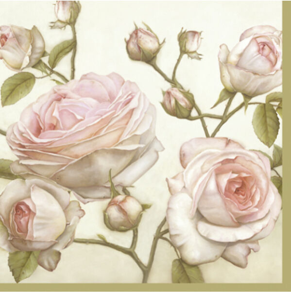 20 Paper Napkins BEAUTY ROSES Decoration DECOUPAGE VINTAGE SHABBY CHIC Lunch