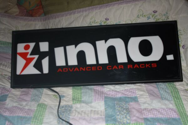 Inno Advanced Car Racks lighted sign very scarce sign nice design free ship $149.99