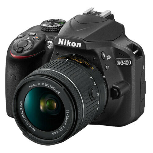 Nikon D3400 24.2 MP Digital SLR Camera with 18-55mm f/3.5-5.6G VR AF-P DX Lens