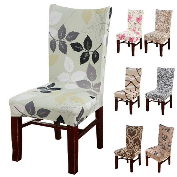 1 4 6pcs Stretch Elastic Chair Seat Slipcovers Dining Room Stool Cover Removable $22.98