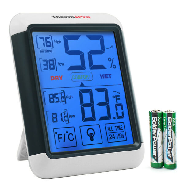 ThermoPro Digital LCD Indoor Thermometer Humidity Temperature Meter Hygrometer