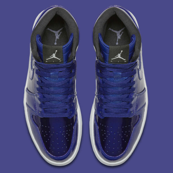 2016 AIR JORDAN 1 I HIGH RETRO PATENT LEATHER DEEP ROYAL BLUE 332550 420 9-13