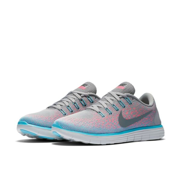 Women's Nike Free RN Distance Running Shoes NEW Grey / Pink , $120