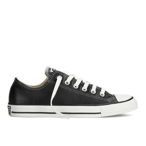 Mens Converse Chuck Taylor All Star Lo Top Leather Fashion Sneaker Black 132174C