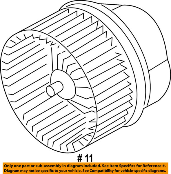FORD OEM 14-16 Transit Connect-Blower Motor DV6Z19805C