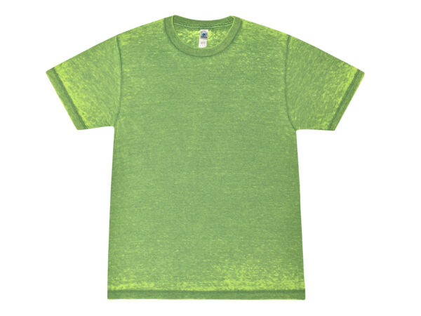 Summer Green Acid Wash Burnout T-shirts Adult S-3XL 6040 CottonPolyester