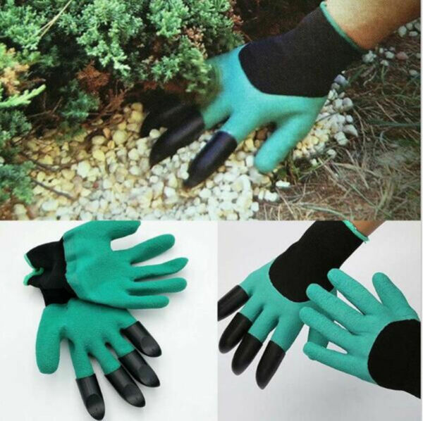 4 ABS Plastic Claws gardening gloves  Garden Gloves for Digging Planting