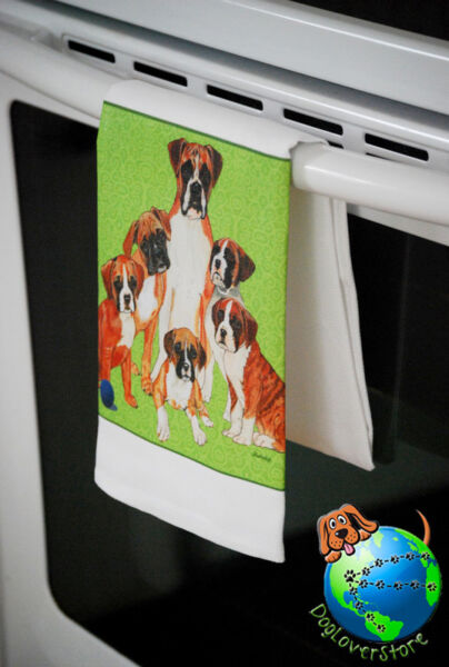 Boxer Dog Kitchen Hand Towel Uncropped $13.99