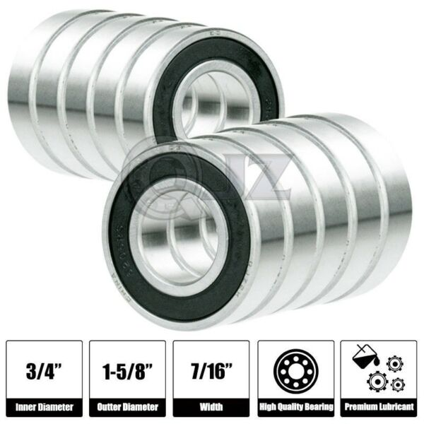 10x SR12 2RS 3 4in x 1 5 8in x 7 16 SR12RS Stainless inch Steel Ball Bearing New