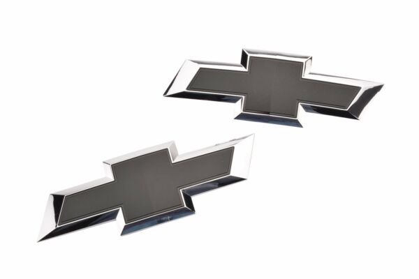 2016-2018 Silverado GM Black Bowtie Grille & Tailgate Emblems OEM NEW 23303572