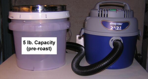 5 lb CAPACITY CoolerDechaffer for Cooling & Dechaffing Roasted Coffee Beans