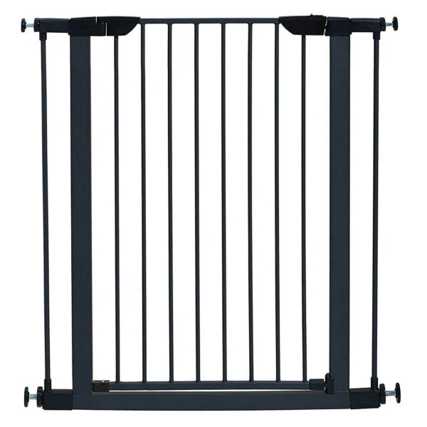 Black Pet Dog Steel Gate Adjustable Baby Child In Door Home Safety Metal Barrier $86.08