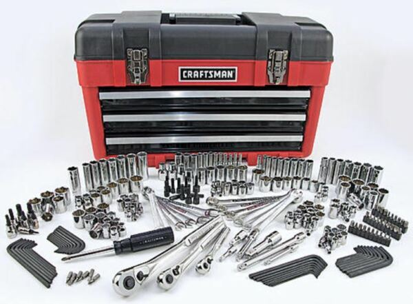 Craftsman 260pc Mechanics Tool Set w/ 3 Drawer Tool Box Chest Garage SAE Metric